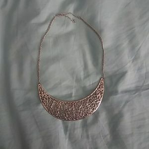 New Silver short adjustable statement necklace